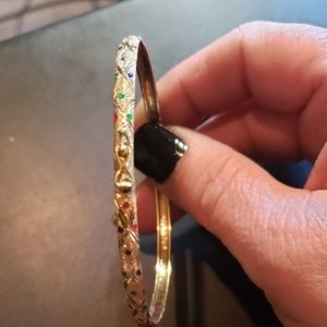10kt gold jeweled bangle